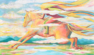 Painting - Skyrider by Jaswant Khalsa