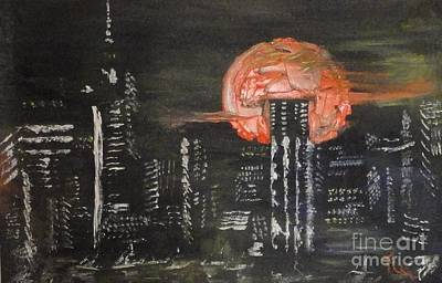 Xerox Painting - Skyrise Moon by PainterArtist FIN