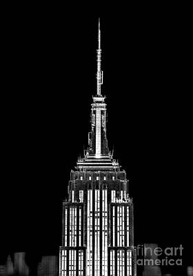 Empire State Photograph - Skyscraper by Az Jackson