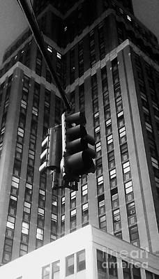 Skyscraper Framed Traffic Light Art Print by James Aiken