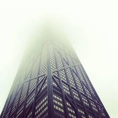 Skyscrapers Photograph - Skyscraper On A Foggy Day by Jill Tuinier