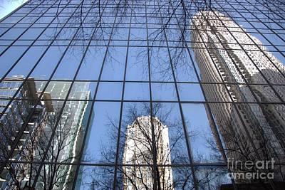Skyscraper Reflections - Charlotte Nc Art Print