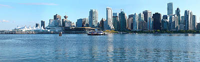 Canada Place Photograph - Skyscrapers At The Waterfront, Canada by Panoramic Images