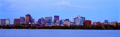 Charles River Photograph - Skyscrapers At The Waterfront, Charles by Panoramic Images