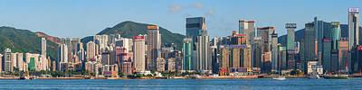 Hong Kong Photograph - Skyscrapers At The Waterfront, Hong by Panoramic Images