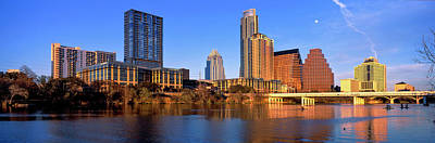 Lady Bird Lake Photograph - Skyscrapers At The Waterfront, Lady by Panoramic Images