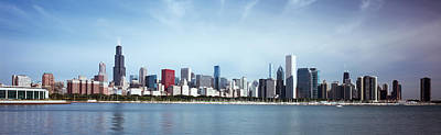 Chicago Photograph - Skyscrapers At The Waterfront, Lake by Panoramic Images