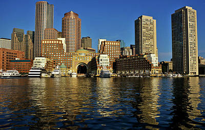 Boston Financial District Photograph - Skyscrapers At The Waterfront, Rowes by Panoramic Images