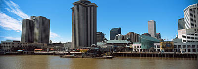 Louisiana Photograph - Skyscrapers At The Waterfront, Trade by Panoramic Images