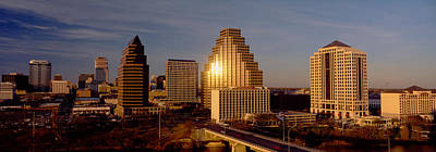 Austin Building Photograph - Skyscrapers In A City, Austin, Texas by Panoramic Images