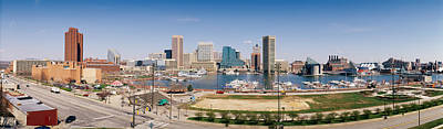 Maryland Photograph - Skyscrapers In A City, Baltimore by Panoramic Images