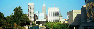 Skyscrapers In A City, Indianapolis Art Print by Panoramic Images