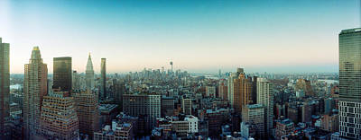 Skyscrapers In A City, Midtown Art Print by Panoramic Images