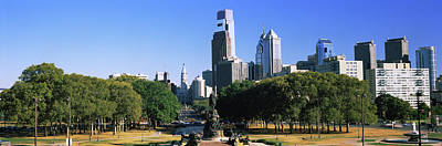 Philadelphia Skyline Photograph - Skyscrapers In A City, Philadelphia by Panoramic Images