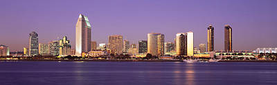 Crowd Scene Photograph - Skyscrapers In A City, San Diego, San by Panoramic Images