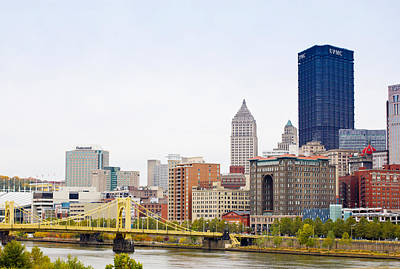Pittsburgh Photograph - Skyscrapers In A City, Tenth Street by Panoramic Images