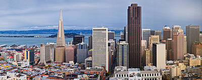 Bay Bridge Photograph - Skyscrapers In The City by Panoramic Images