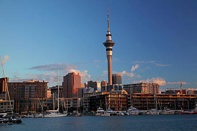 Boat Basins Photograph - Skytower, Cbd, And Yachts, Viaduct by David Wall
