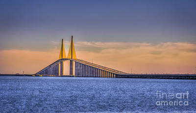 Bay Photograph - Skyway Bridge by Marvin Spates