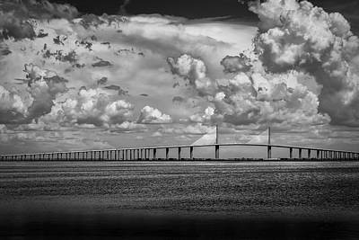 Channel Photograph - Skyway Clouds by Marvin Spates