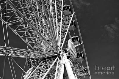Photograph - Skywheel Angles Mono by John Rizzuto