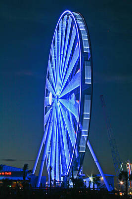 Photograph - Skywheel At Dusk V by Gene Berkenbile