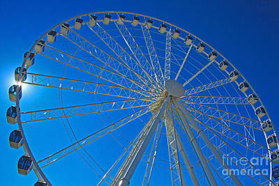 Photograph - Skywheel Backlit  by Gene Berkenbile