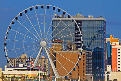 Photograph - Skywheel Evening by Gene Berkenbile
