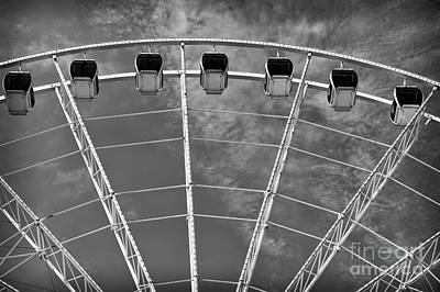 Photograph - Skywheel Portrait Mono by John Rizzuto