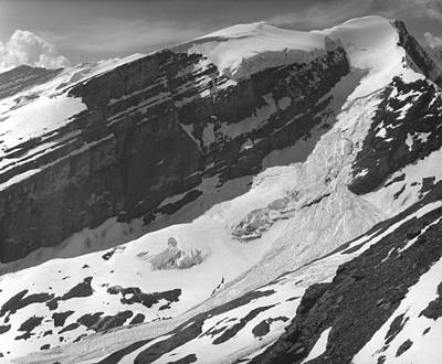 Photograph - Slab Avalanche On Mt. Anne Alice by Ed  Cooper Photography