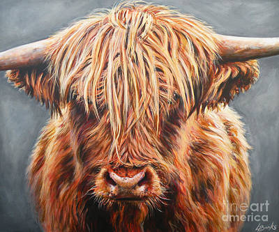 Scottish Highlands Painting - Slackbuie by Leigh Banks