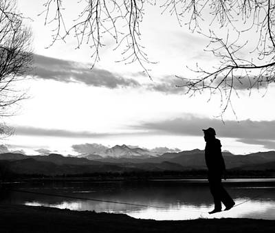 Photograph - Slackline Yogis In Bw by James BO Insogna