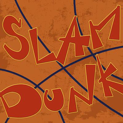 Basketball Painting - Slam Dunk by Anna Quach