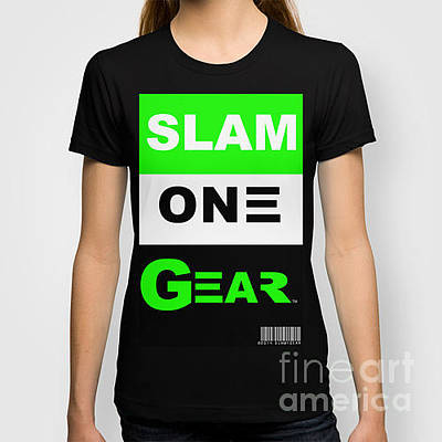 Mixed Media - Slam One Gear T-shirt by James Eye