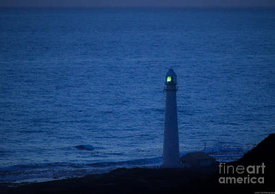 Photograph - Slangkop Lighthouse After Sunset by Jeff at JSJ Photography