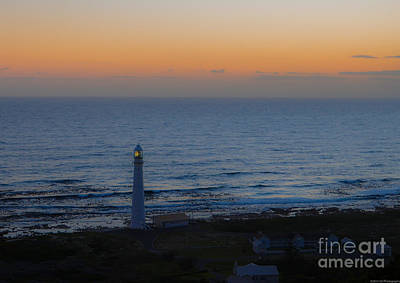 Photograph - Slangkop Lighthouse At Twilight by Jeff at JSJ Photography