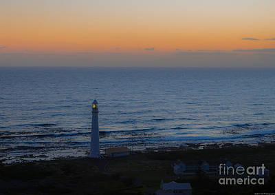 Photograph - Slangkop Lighthouse At Twilight by Jeff at JSJ Photography