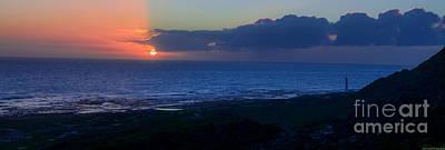 Photograph - Slangkop Lighthouse Panoramic Sunset by Jeff at JSJ Photography