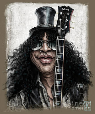 Musicians Digital Art - Slash by Andre Koekemoer