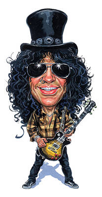 Musicians Paintings - Slash by Art