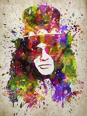 Musicians Royalty-Free and Rights-Managed Images - Slash in Color by Aged Pixel