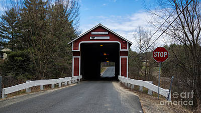 Photograph - Slate Covered Bridge. by New England Photography