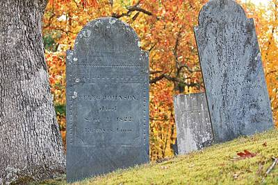 Photograph - Sterling Ma Burial Ground 2 by Michael Saunders