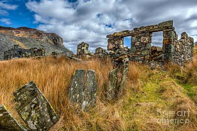 Slate Mine Ruins Print by Adrian Evans