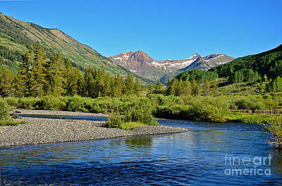 Photograph - Slate River View by Kelly Black