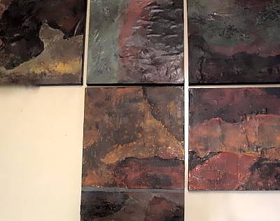 Three Sizes Painting - Tile Grouping by Jim Ellis