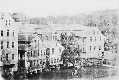 Building Factory Photograph - Slater Cotton Mill by Library Of Congress