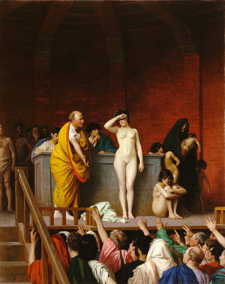 Jean-leon Gerome Painting - Slave Market In Rome by Jean-Leon Gerome