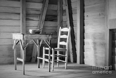 Photograph - Slave Quarters Interior 2 by Kathleen K Parker