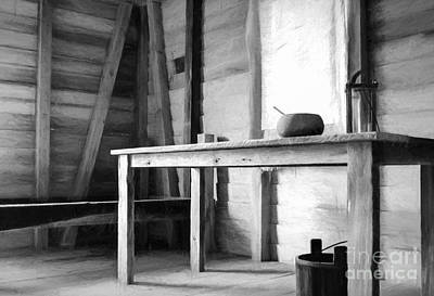 Photograph - Slave Quarters Interior  by Kathleen K Parker